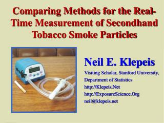 Comparing Methods for the Real-Time Measurement of Secondhand Tobacco Smoke Particles