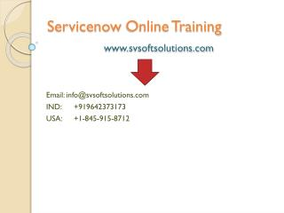 Servicenow Online Training in USA, Canada, UK and India
