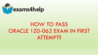 1z0-062 Real Exam Questions Answers
