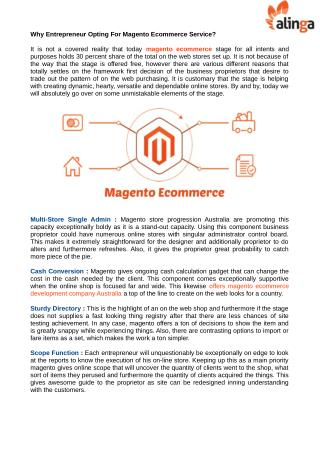 Find A Best Magento eCommerce Services in Brisbane