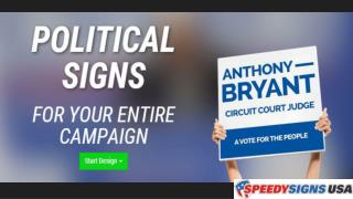Step by Step - Online Political Sign Design