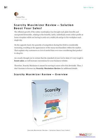 Scarcity Maximizer Review