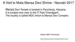 Mansa Devi Mandir in Panchkula during Navratras by Aseem of MDC Panchkula