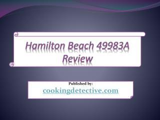 Hamilton Beach 49983A Review