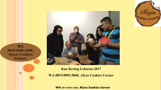 WA 0819.0895.5868,  Distributor Kue Kering Nastar Buatan Rumah online Jakarta Alysa Cookies