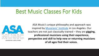 Best Music Classes For Kids