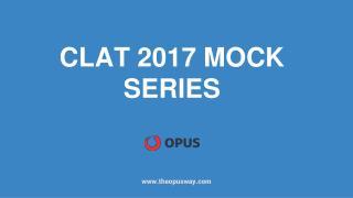 CLAT 2017 Mock Series