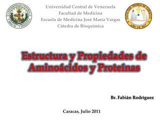 Universidad Central de Venezuela Facultad de Medicina Escuela de Medicina Jos  Mar a Vargas C tedra de Bioqu mica