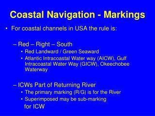 Coastal Navigation - Markings
