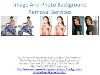 Image And Photo Background Removal Services