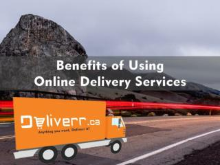 Benefits of Using Online Delivery Services