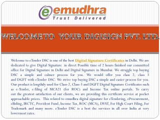 No.1 Digital Signature Certificate in India