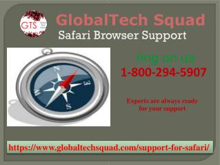 Safari Browser Support | Toll Free 1-800-294-5907