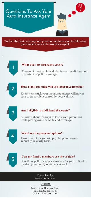 Questions To Ask Your Auto Insurance Agent