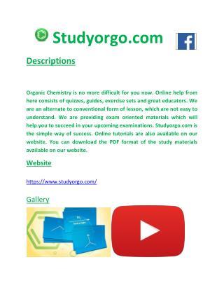 Organic chemistry study Pdf file