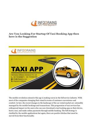 Taxi Booking App Development Services : Infograins