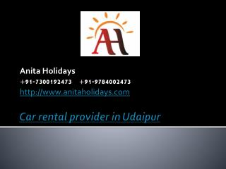 Car Rental provider in Udaipur