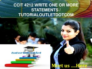 CCIT 4212 WRITE ONE OR MORE STATEMENTS / TUTORIALOUTLETDOTCOM