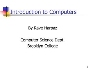Intro to Computers Power Point Website