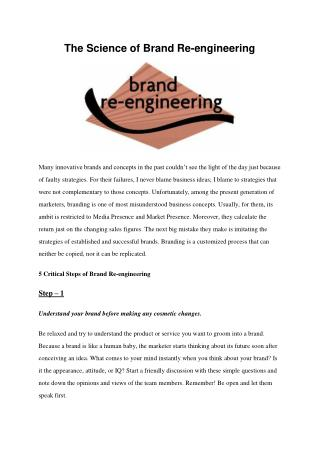 The Science of Brand Re-engineering