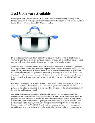 Best Cookware Available