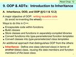 9. OOP  ADTs:  Introduction to Inheritance