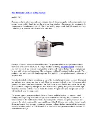 Best Pressure Cookers in the Market