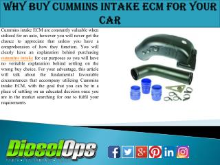 Why Buy Cummins Intake ECM for Your Car