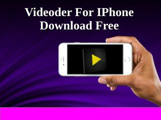Videoder For IPhone & IPad Download Free
