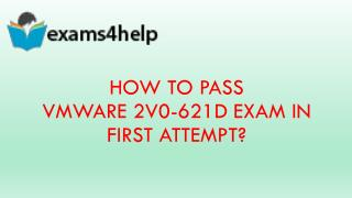 2V0-621D Real Exam Questions
