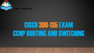 300-135 PDF Dumps with 300-135 Study Guide