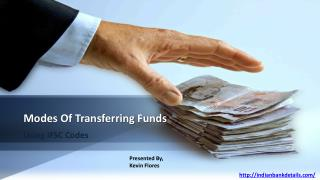 Modes Of Transferring Funds Using IFSC Code