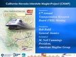 California-Nevada Interstate MaglevProject CNIMP