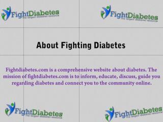 Fight Diabetes Provides the Best Ways to Diagnose Diabetes