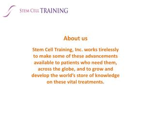 Stem cell education
