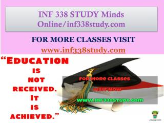 INF 338 STUDY Minds Online/inf338study.com