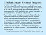 Medical Student Research Programs
