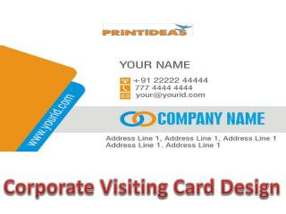 Corporate Visiting Card Design-Printideas
