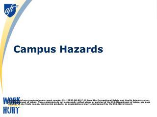 Campus Hazards