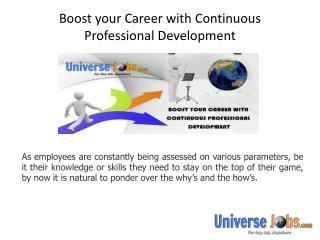 Boost your Career with Continuous Professional Development