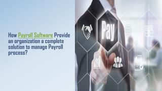 How Payroll Software Provide an organization a complete solution to manage Payroll process?