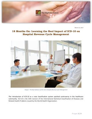 18 Months On: Learning the Real Impact of ICD-10 on Hospital Revenue Cycle Management