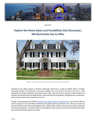 Explore the Home Styles and Possibilities that Gloucester, MA Real Estate Has to Offer