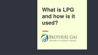 LPG Bottled Gas