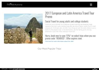 Travel groups for young professionals
