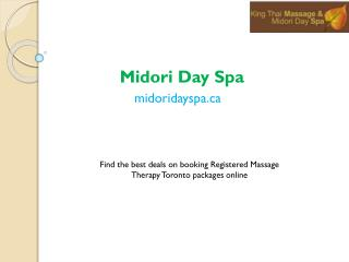 Toronto Spa Packages For Couples