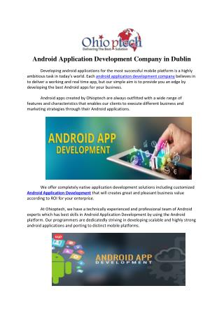 Android Application Development Company in Dublin