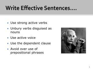 Write Effective Sentences .