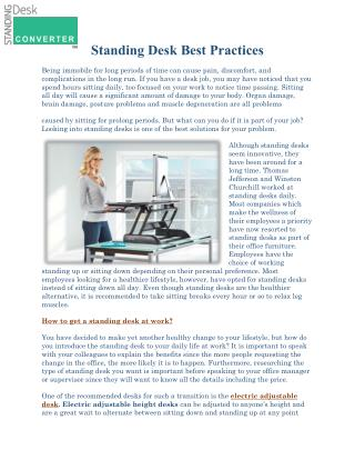 How to get a standing desk at work?