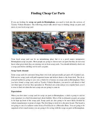 Finding Cheap Car Parts